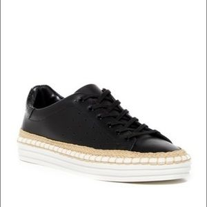 Sam Edelman Kavi Black Leather Sneaker